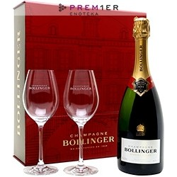Bollinger Special Cuvee 2 Glass 29cl Red Gift Box