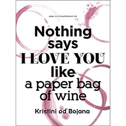 Paper bag of wine
