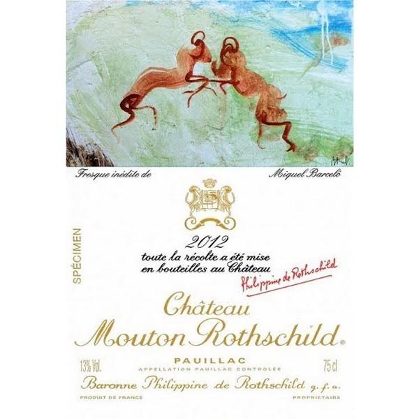 Chateau Mouton Rothschild Pauillac Bordo crveno vino