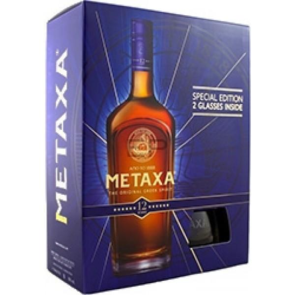 Metaxa 12* Gift sa dve čaše