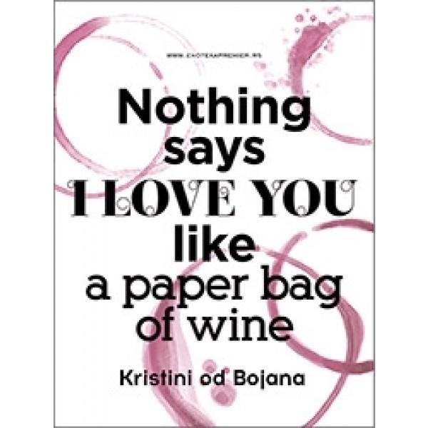 Paper bag of wine