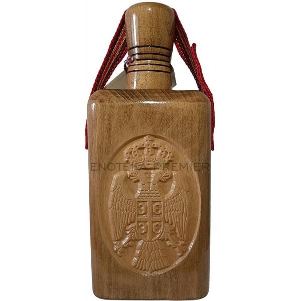 Srpska Trojka Premium Dunjevača barik drvena flaša
