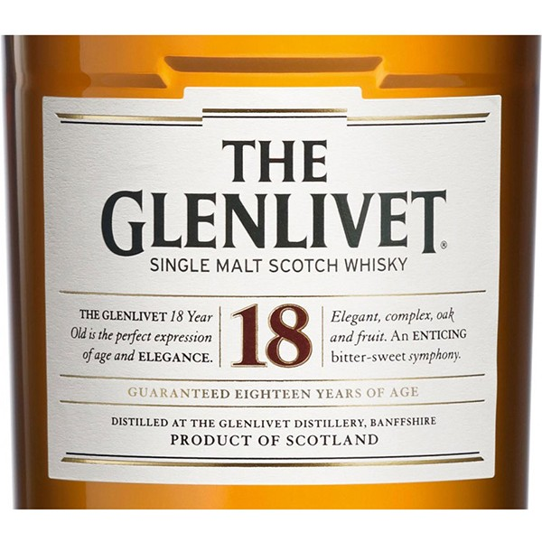 Glenlivet 18YO single malt viski