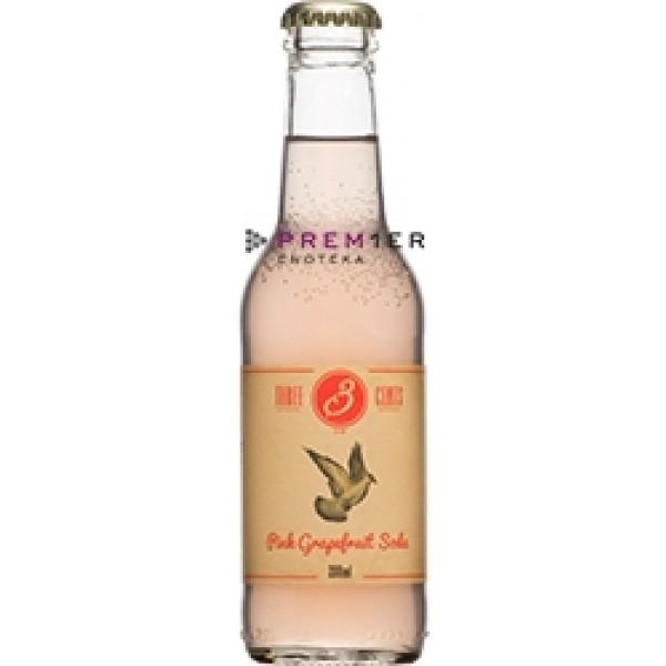 Three Cents Pink Grapefruit Soda 200ml