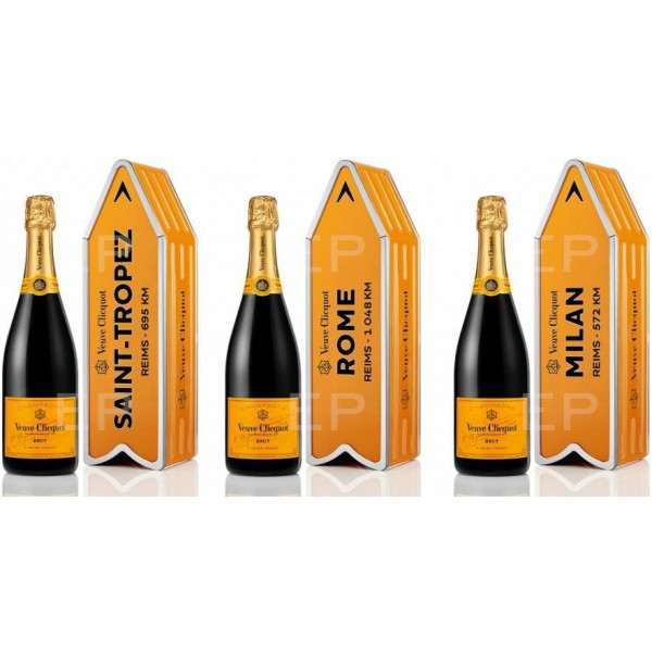Veuve Clicquot Brut Yellow Label Arrow Gift Box